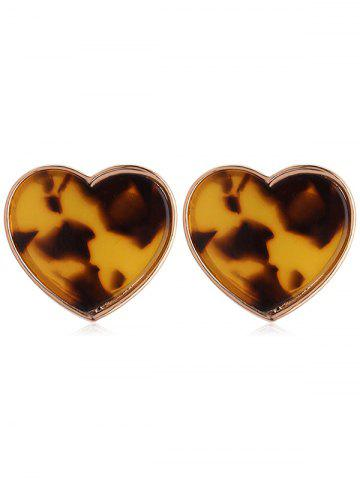 Affordable Leopard Printed Heart Tiny Stud Earrings