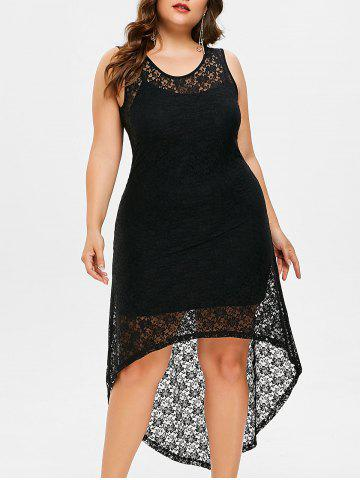 Affordable Plus Size High Low Lace Dress with Camisole