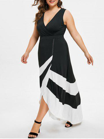 Unique Plus Size Maxi Surplice Dress