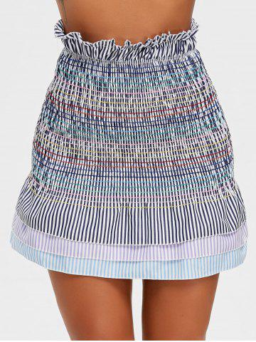 Outfit Striped Smocked Flounce Skirt