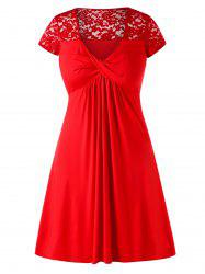 Plus Size Knee-length A-line Dress -