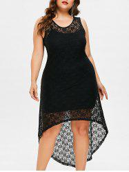 Plus Size High Low Lace Dress with Camisole -