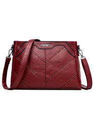 Minimalist Quilted PU Leather Crossbody Bag -