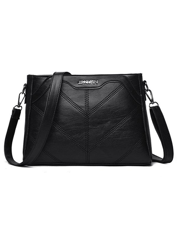 New Minimalist Quilted PU Leather Crossbody Bag