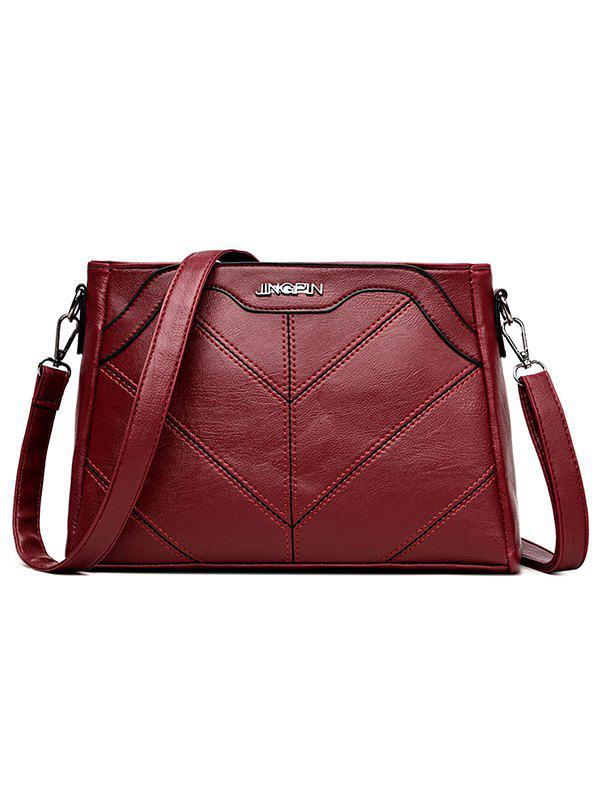 Shop Minimalist Quilted PU Leather Crossbody Bag