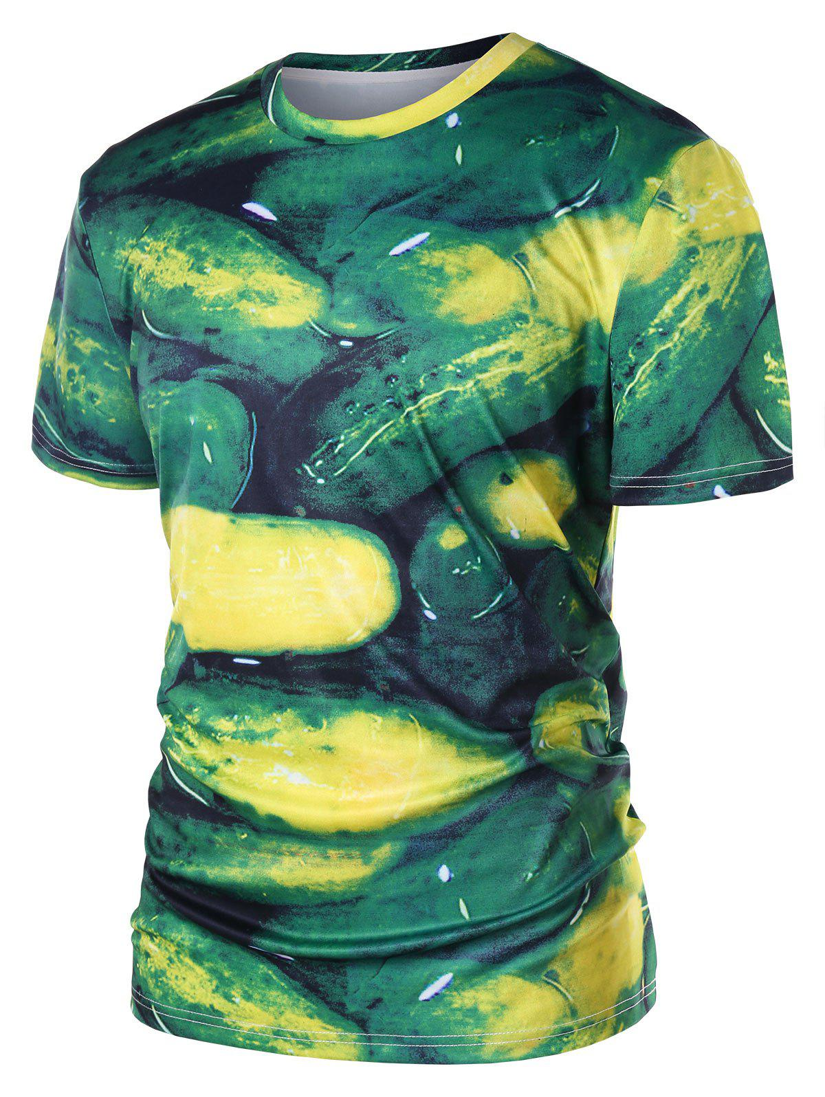Fashion Short Sleeve Cucumber T-shirt