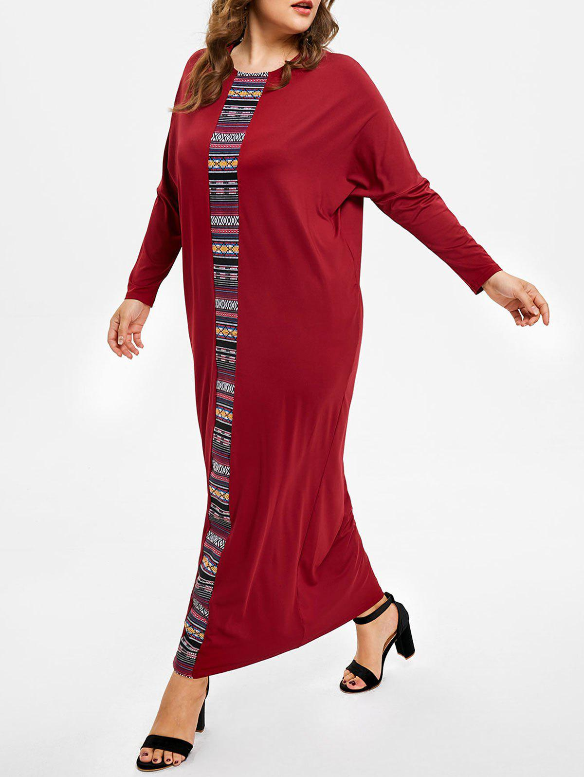 Shop Plus Size Ethnic Embroidered Maxi Dress