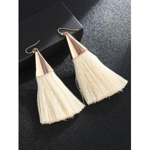 Bohemian Metal Tassel Drop Earrings -
