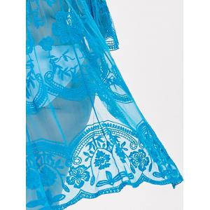 Plus Size Sheer Lace Cover Up -
