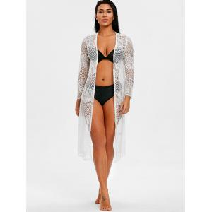 See Through Lace Panel Openwork Cover Up -