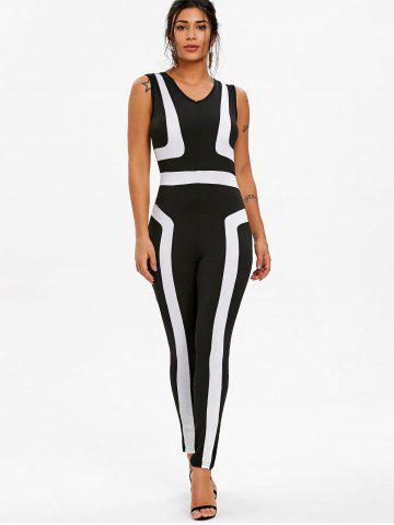 Color Block Sleeveless Jumpsuit