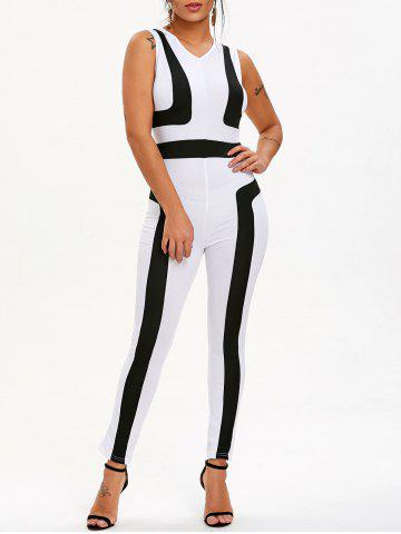 Trendy Color Block Sleeveless Jumpsuit