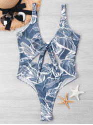 Tie Dye Cut Out One Piece Swimwear -
