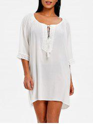 Front Cut Out Crochet Panel Cover Up -