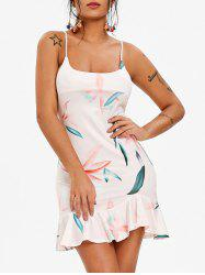 Spaghetti Strap Floral Print Mini Dress -