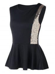 Sleeveless Sequins Peplum Top -