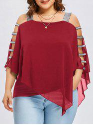 Plus Size Ladder Cut Flowy Blouse -