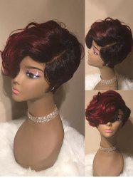 Short Colormix Side Parting Wavy Synthetic Wig -