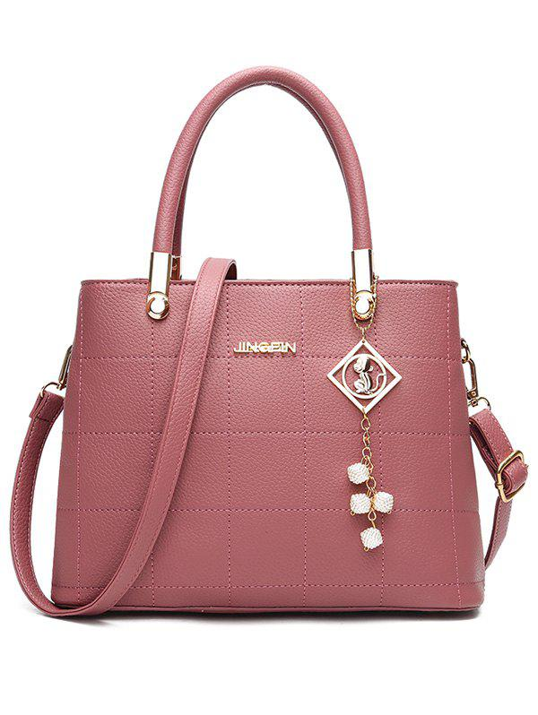 Outfit Quilted Stitches Faux Leather Handbag with Strap