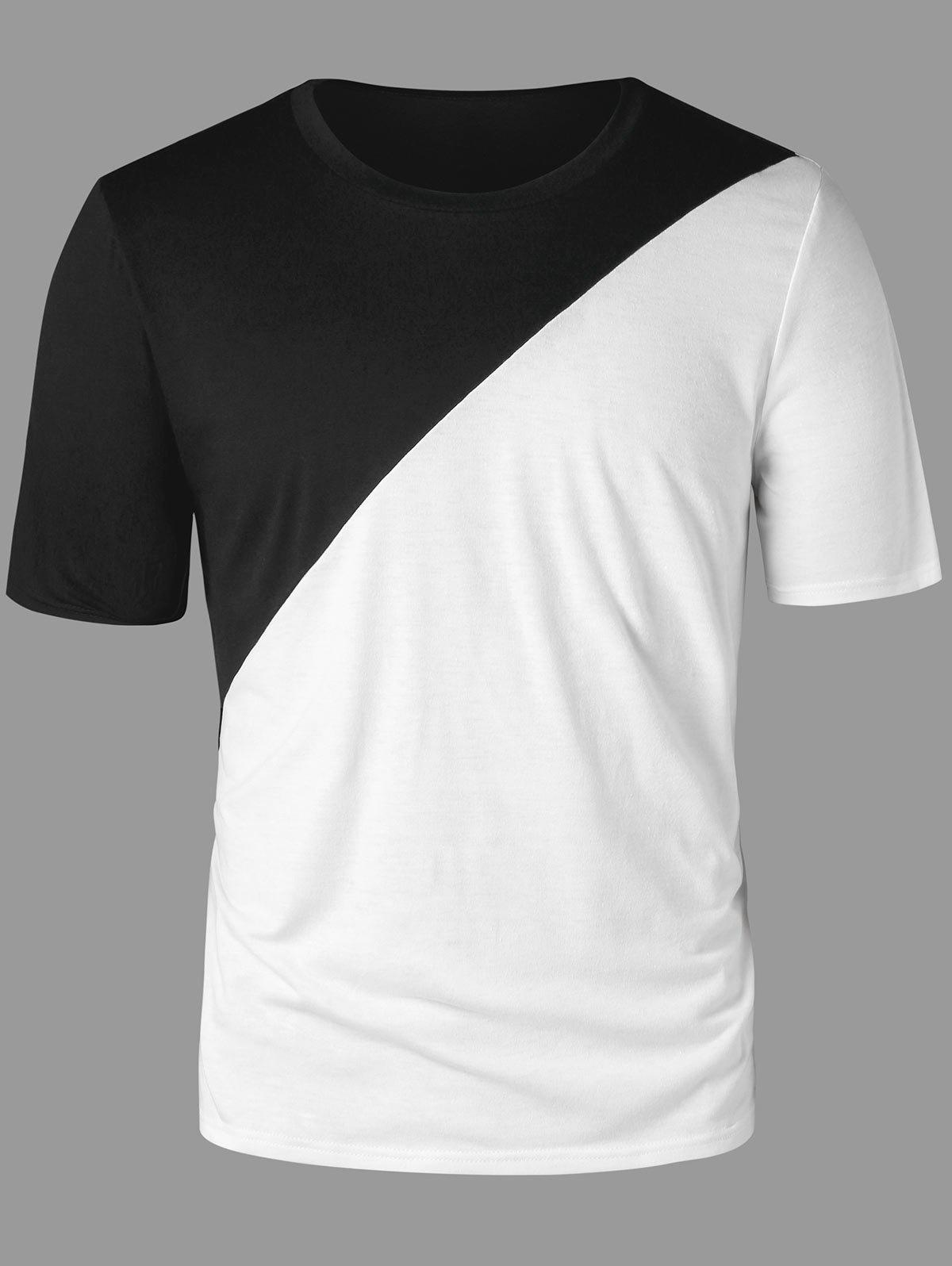 257317441e3af 2019 Two Tone Split Blank T-shirt