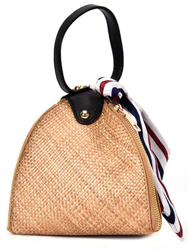 Online Vacation Style Geometric Straw Crossbody Bag
