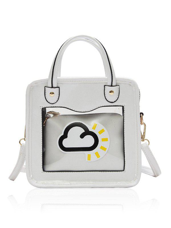 Cheap Chic Cloud Pattern PU Leather Handbag Set