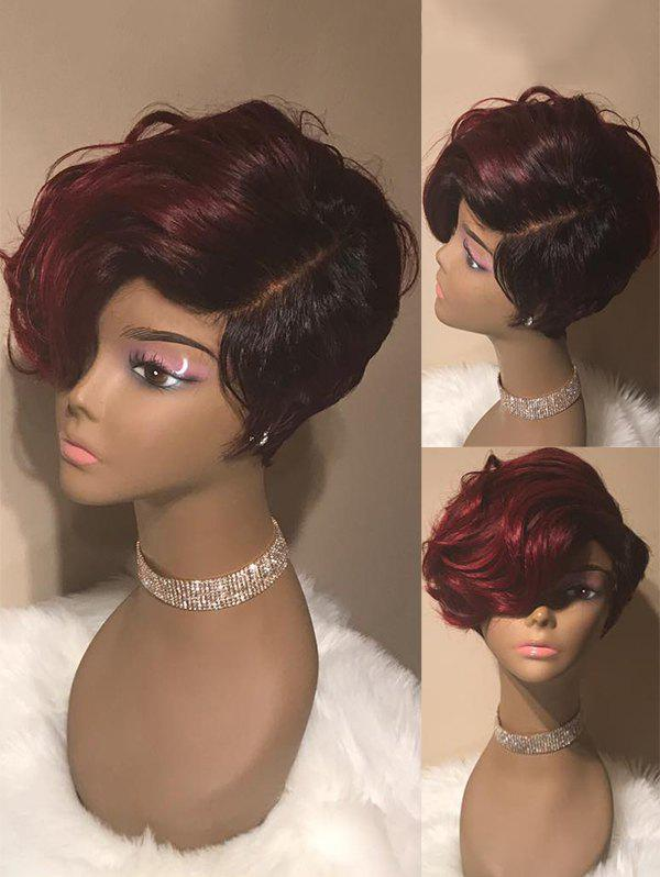 New Short Colormix Side Parting Wavy Synthetic Wig