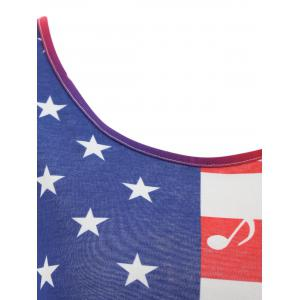 Ombre Caged American Flag Tank Top -