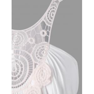 Openwork Lace Peasant Tank Top -