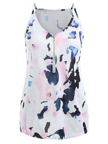 Fashion Plunging Neck Printed Cami Top