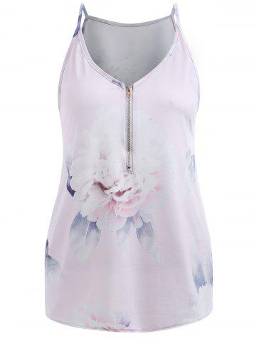 Affordable Plunging Neck Printed Cami Top