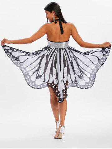 Outfit Halter Neckline Butterfly Dress