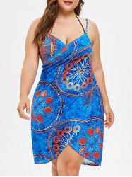 Plus Size Wrap Cover Up Dress -