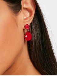 Faux Gemstone Water Drop Dangle Earrings -