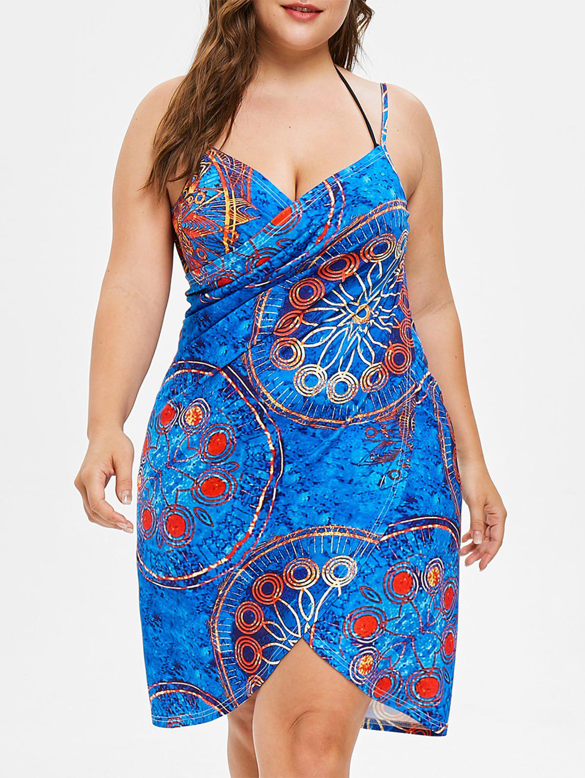 Hot Plus Size Wrap Cover Up Dress
