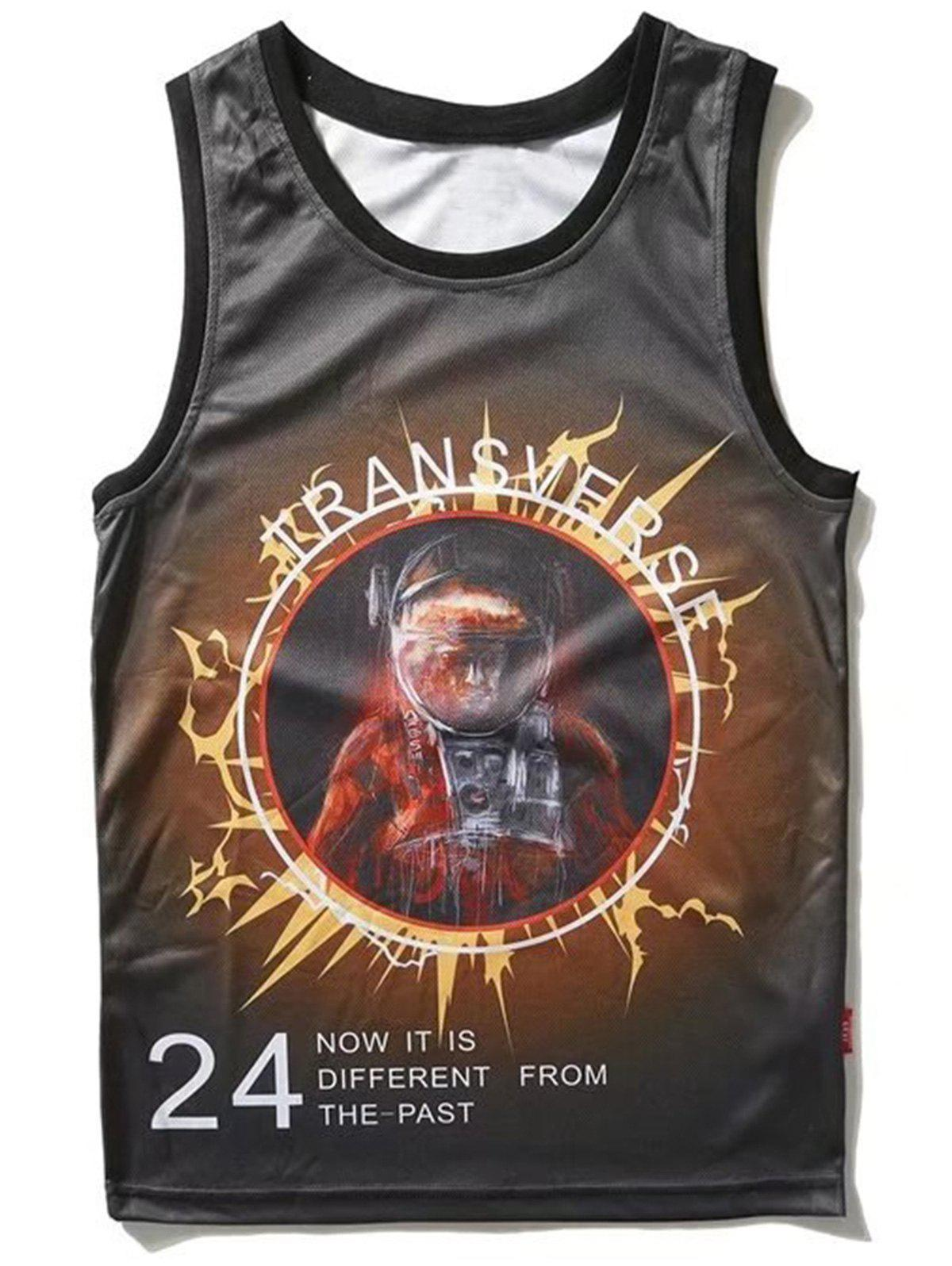 Latest Astronaut Graphic Tank Top