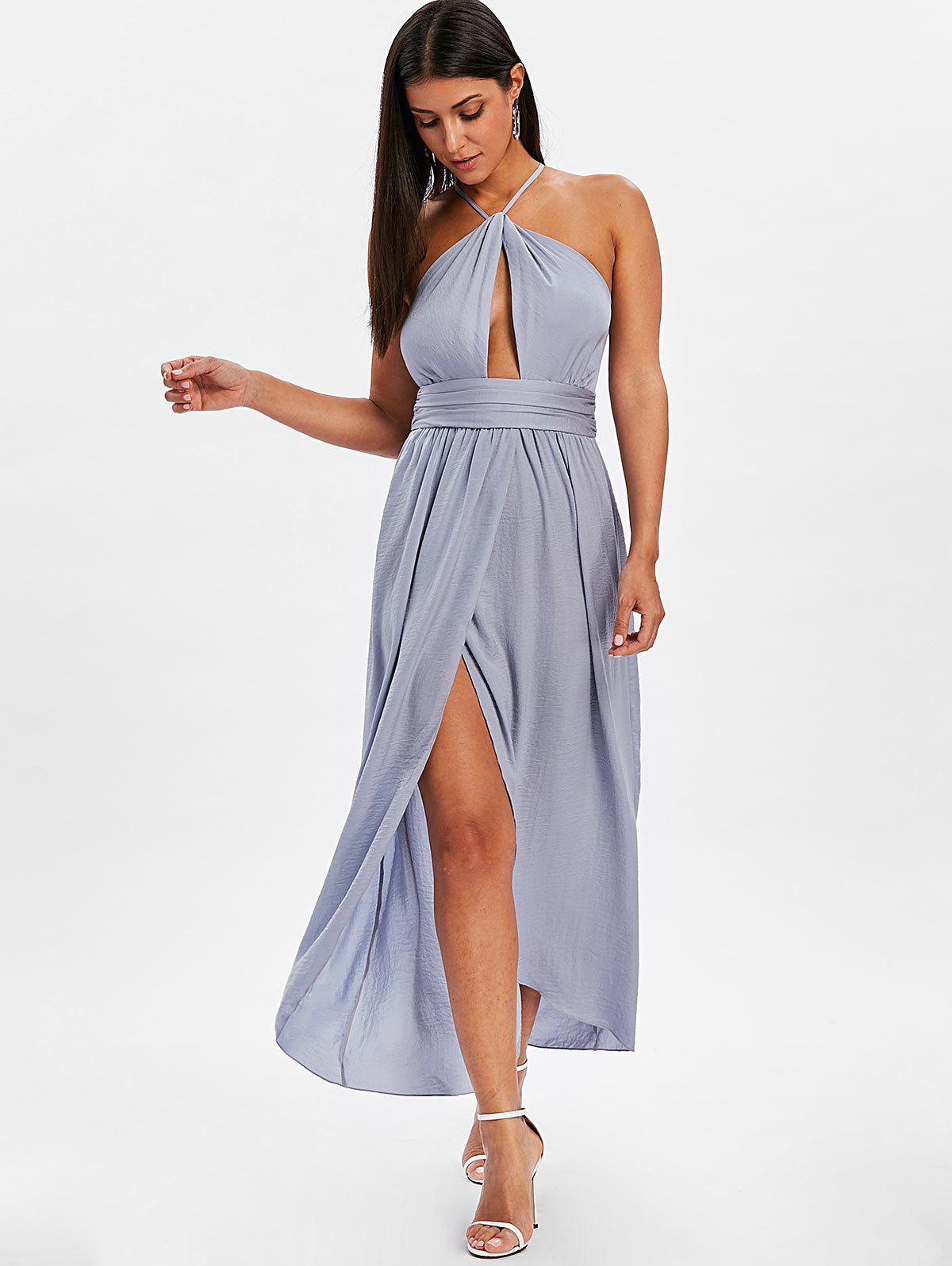 New Cut Out Strappy Backless Dress