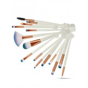 15Pcs Shell forme extra doux fibre cheveux maquillage des yeux pinceau Collection -