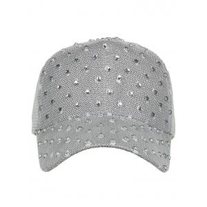 Unique Rhinestone Pattern Breathable Sunscreen Hat -