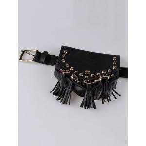 Mini Fanny Pack Faux Leather Cell Phone Waist Belt -