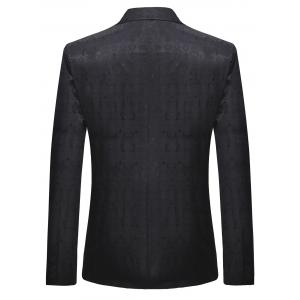 One Button Lapel Collar Vintage Pattern  Blazer -