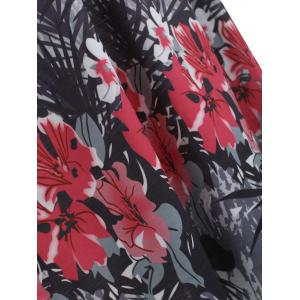 Floral Ink Painting Plus Size Tank Top -