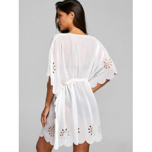 Burn Out Empire Waist Cover Up Top -