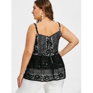 Lace-up Plus Size Swing Tank Top -