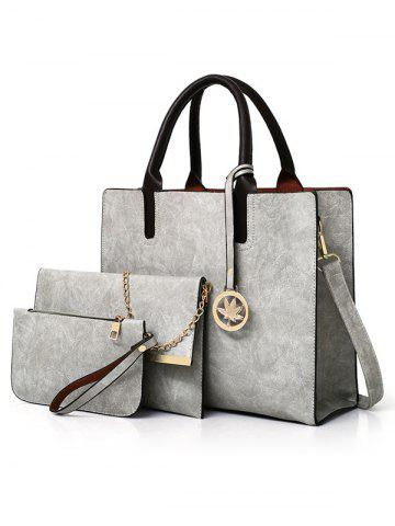 Store 3 Pieces Simple Style Business Shoulder Bag Tote Bag Clutch Set