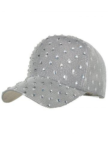 Online Unique Rhinestone Pattern Breathable Sunscreen Hat