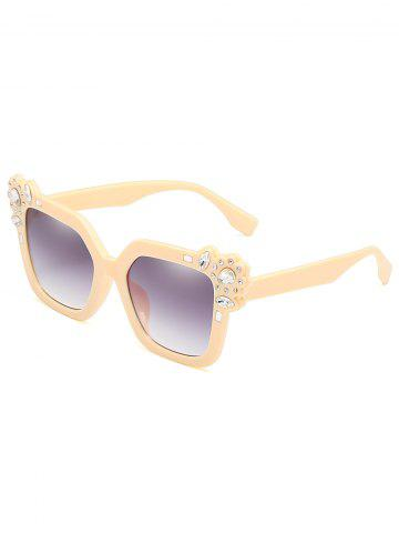Outfits Anti Fatigue Rhinestone Inlaid Oversized Sunglasses