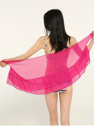 Cheap Simple Solid Color Double Layers Shawl Scarf