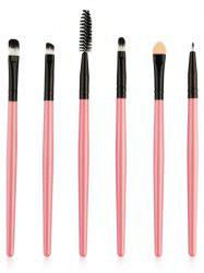 Set of 6Pcs Ultra Soft Fibre Hair Eye Makeup Brushes -