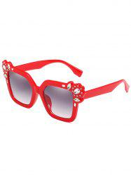 Anti Fatigue Rhinestone Inlaid Oversized Sunglasses -